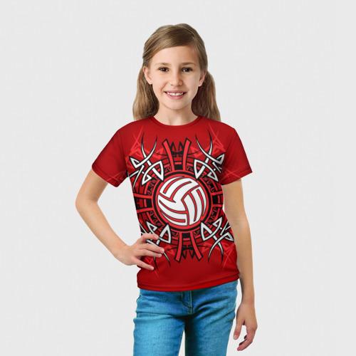 Детская футболка 3D  Фото 03, Волейбол 34