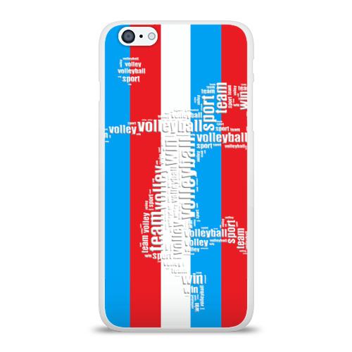 Чехол для Apple iPhone 6Plus/6SPlus силиконовый глянцевый  Фото 01, Волейбол 35