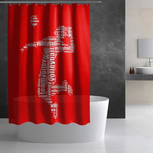 Штора 3D для ванной  Фото 02, Волейбол 36