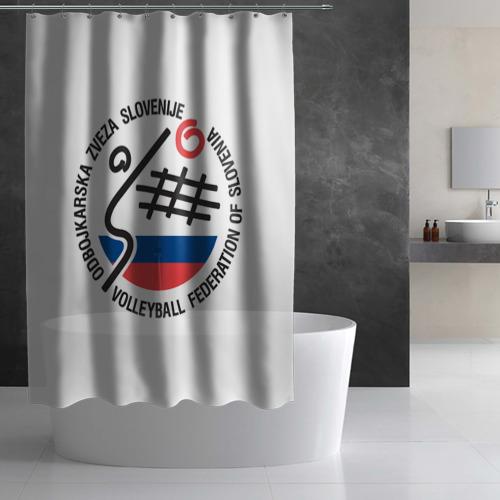 Штора 3D для ванной  Фото 02, Волейбол 43
