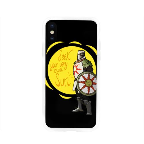 Чехол для Apple iPhone X силиконовый глянцевый  Фото 01, Dark Souls 2