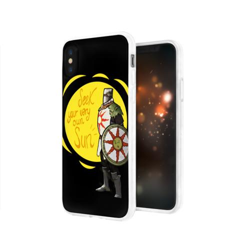 Чехол для Apple iPhone X силиконовый глянцевый  Фото 03, Dark Souls 2