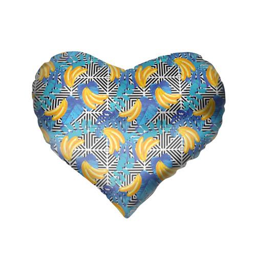 Подушка 3D сердце  Фото 02, Banana pattern