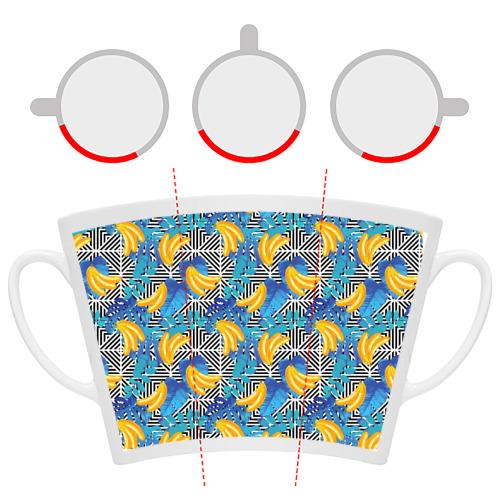 Кружка Латте  Фото 06, Banana pattern