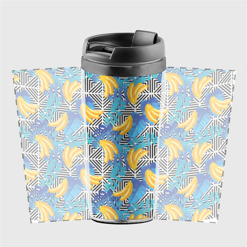 Термокружка-непроливайка  Фото 02, Banana pattern
