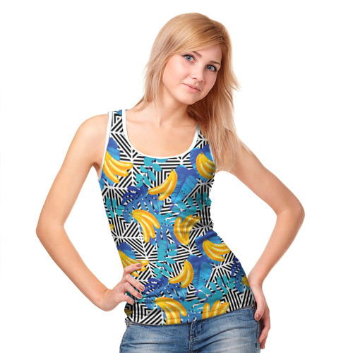 Женская майка 3D  Фото 05, Banana pattern