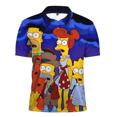 Мужская рубашка поло 3D Флинстоуны