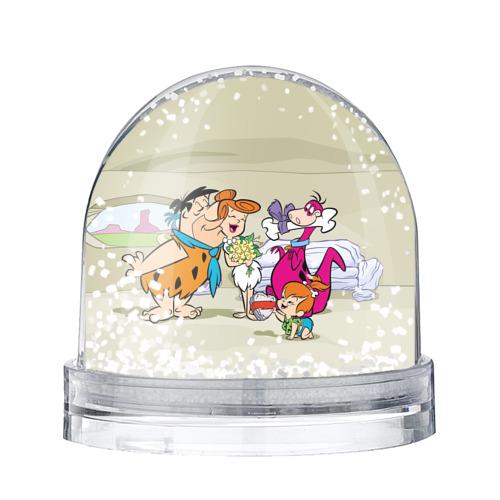 Водяной шар со снегом Флинстоуны