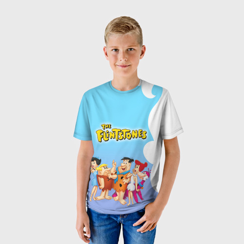 Детская футболка 3D Флинстоуны