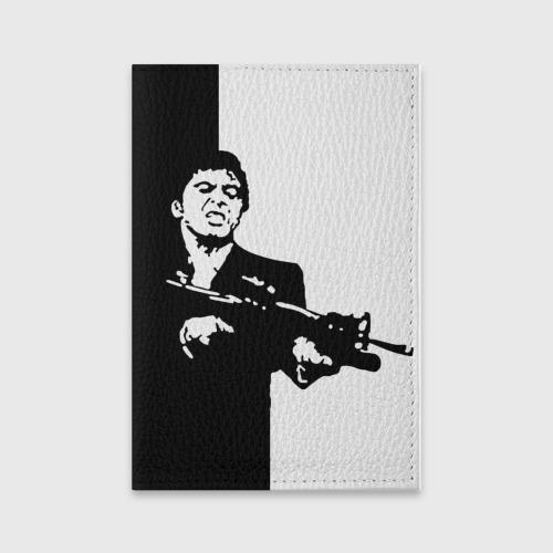 Обложка для паспорта матовая кожа Тони Монтана Фото 01