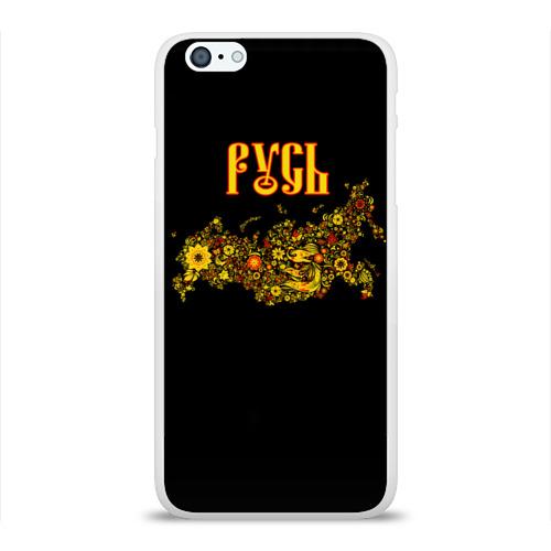Чехол для Apple iPhone 6Plus/6SPlus силиконовый глянцевый  Фото 01, Русь (хохлома)