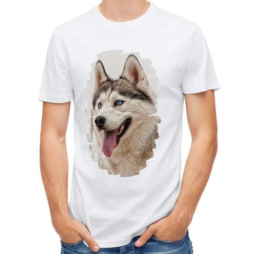 Мужская футболка полусинтетическая  Фото 01, Симпотяга волк