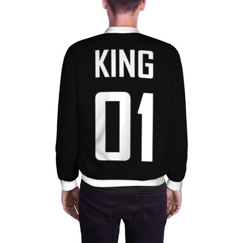 Мужской бомбер 3D  Фото 04, King (на спине)