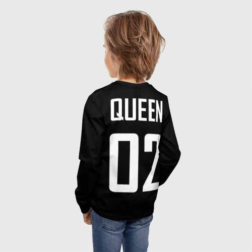 Детский лонгслив 3D Queen (на спине) Фото 01