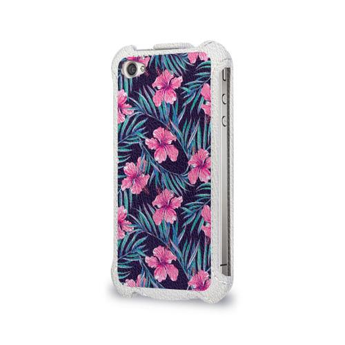 Чехол для Apple iPhone 4/4S flip  Фото 03, Flowers