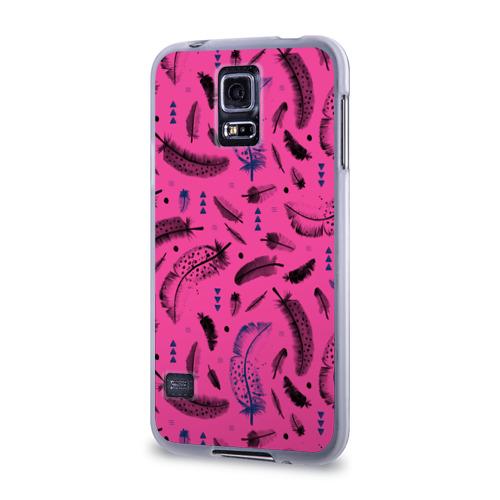 Чехол для Samsung Galaxy S5 силиконовый  Фото 03, Feathers