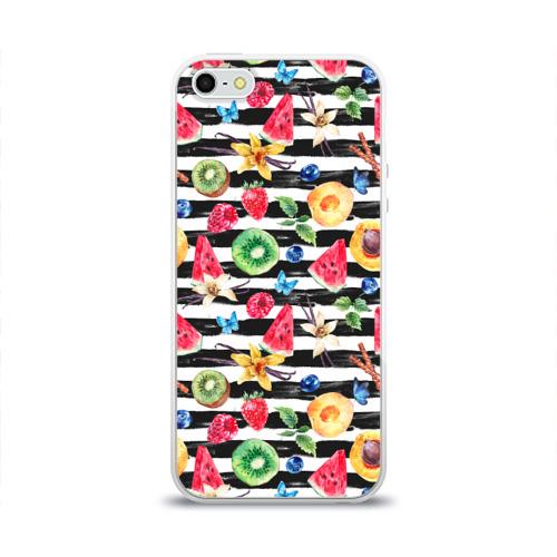 Чехол для Apple iPhone 5/5S силиконовый глянцевый  Фото 01, Лето