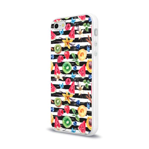 Чехол для Apple iPhone 5/5S силиконовый глянцевый  Фото 03, Лето