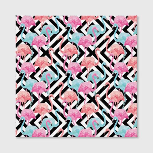 Холст квадратный  Фото 02, Flamingo