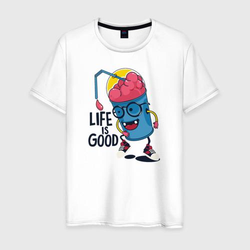 Мужская футболка хлопок Life is good