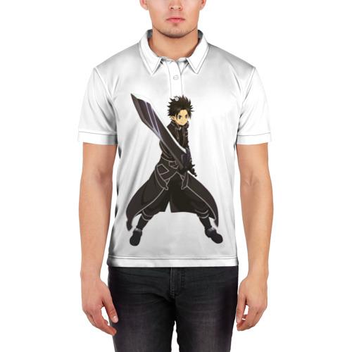 Мужская рубашка поло 3D  Фото 03, Black