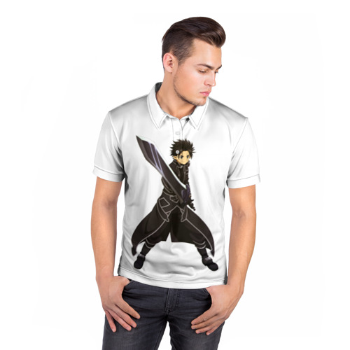 Мужская рубашка поло 3D  Фото 05, Black