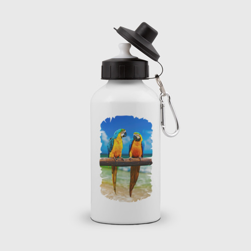 Бутылка спортивная  Фото 01, Попугаи