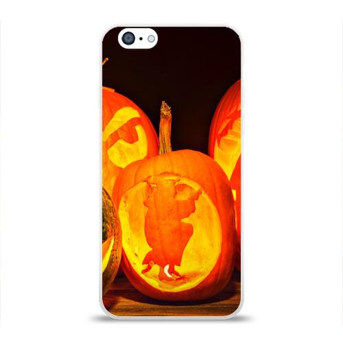 Чехол для Apple iPhone 6 силиконовый глянцевый  Фото 01, Тыквы