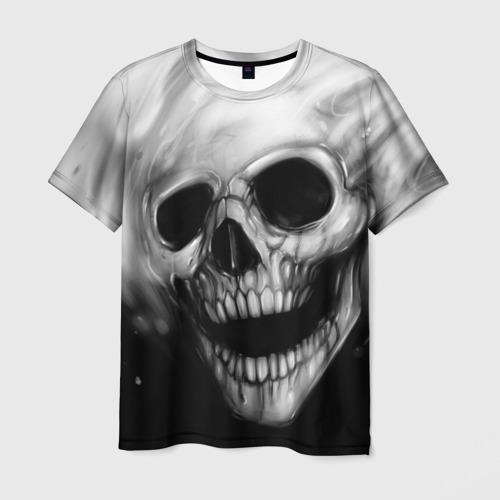 Мужская футболка 3D Рисованный череп