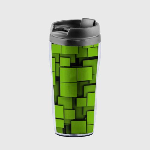 Термокружка-непроливайка  Фото 01, Зеленые кубики