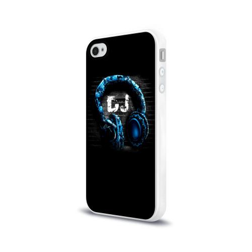 Чехол для Apple iPhone 4/4S силиконовый глянцевый DJ Фото 01