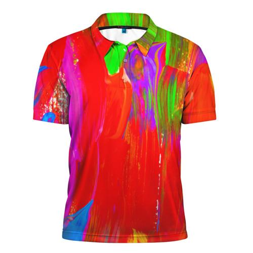 Мужская рубашка поло 3D  Фото 01, Абстракция