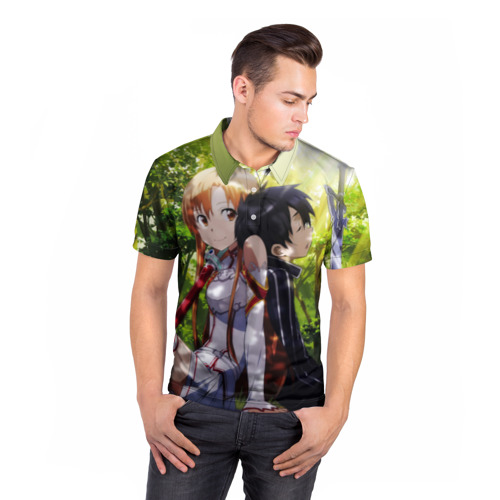 Мужская рубашка поло 3D  Фото 05, Nature