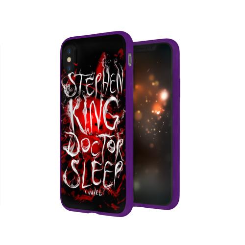 Чехол для Apple iPhone X силиконовый глянцевый Стивен Кинг 10 Фото 01