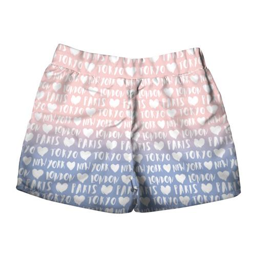 Женские шорты 3D  Фото 02, London, Paris, New York, Tokyo