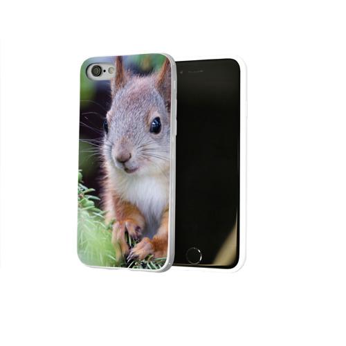 Чехол для Apple iPhone 8 силиконовый глянцевый  Фото 02, Белочка