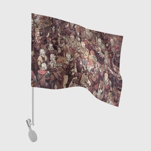 Флаг для автомобиля Ведьмак и компания Фото 01
