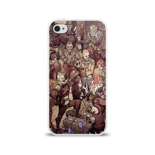 Чехол для Apple iPhone 4/4S силиконовый глянцевый Ведьмак и компания Фото 01