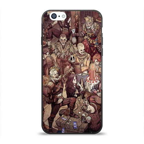 Чехол для Apple iPhone 6 силиконовый глянцевый Ведьмак и компания Фото 01
