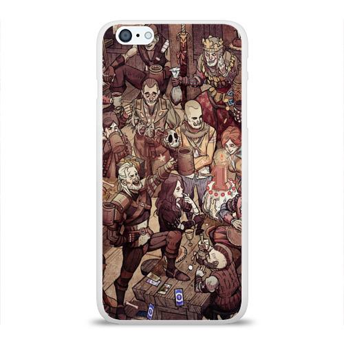 Чехол для Apple iPhone 6Plus/6SPlus силиконовый глянцевый  Фото 01, Ведьмак и компания