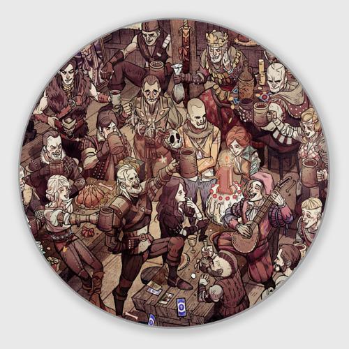 Коврик для мышки круглый Ведьмак и компания Фото 01