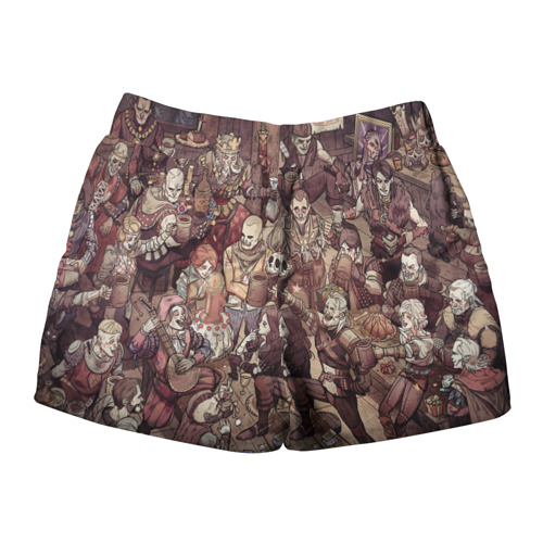 Женские шорты 3D Ведьмак и компания Фото 01