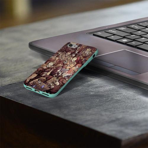 Чехол для Apple iPhone 8 силиконовый глянцевый Ведьмак и компания Фото 01