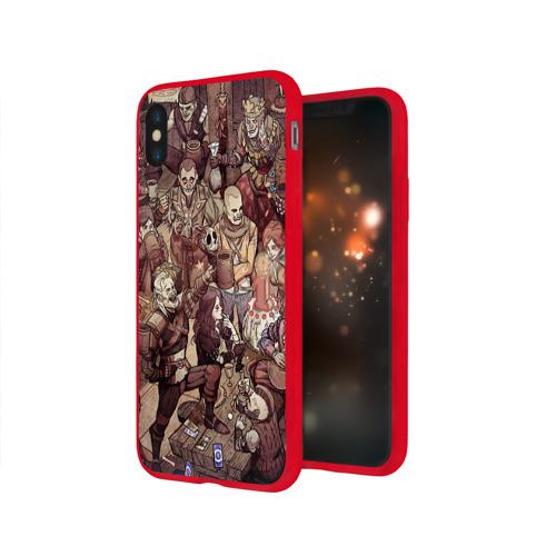 Чехол для Apple iPhone X силиконовый глянцевый Ведьмак и компания Фото 01