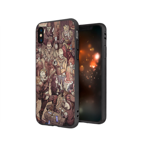 Чехол для iPhone X матовый Ведьмак и компания Фото 01