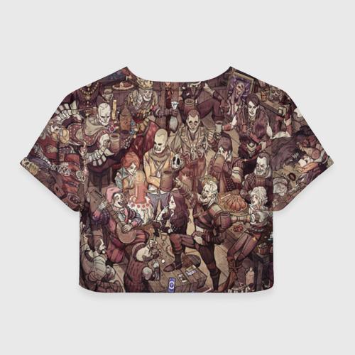 Женская футболка Crop-top 3D Ведьмак и компания Фото 01