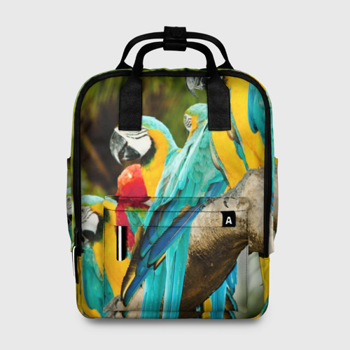 Женский рюкзак 3D Попугаи на ветке Фото 01