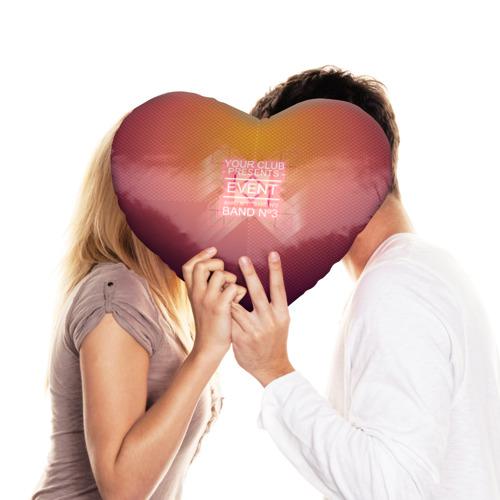 Подушка 3D сердце  Фото 03, Клубная музыка