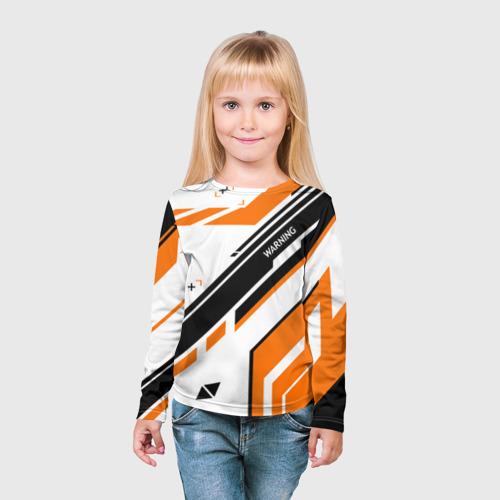 Детский лонгслив 3D cs:go - Asiimov P90 Style Фото 01