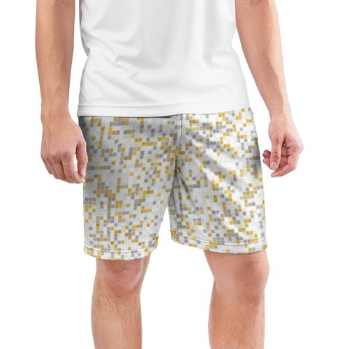 Мужские шорты 3D спортивные  Фото 03, Мозаика